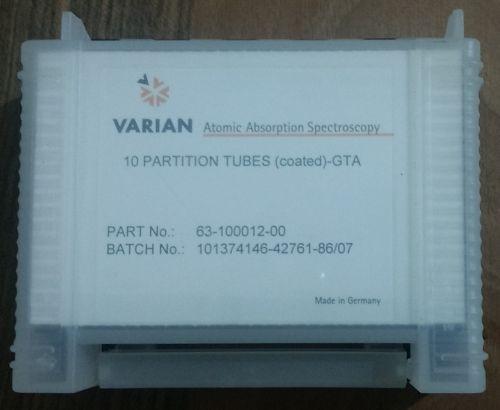 Partitioned tubes, pyrolytically coated, 10/pk Varian AAS Uyumlu Grafit Tüp