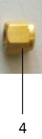 Somun (nut) 1/8 inç (3.17mm) bakır boru bağlantısına uygun (10/pk)